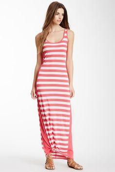 Striped Column Maxi Dress