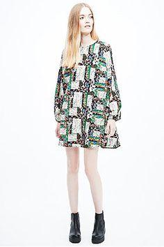 Urban Renewal Vintage Remnants Boho Swing Dress in Mixed Prints