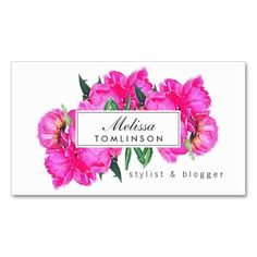 Bright Watercolor Pink Peonies Stylist, Beauty