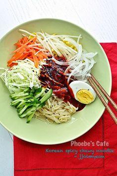 쫄면 레시피, 쫄면 양념장 만들기, 한국 요리, 분식, 면 요리, Asian Recipes, Healthy Recipes, Ethnic Recipes, Tteokbokki Recipe, Best Korean Food, K Food, Korean Dishes, Vegetable Dishes, Food Design