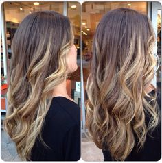 Balayage. Baliage. Sunkissed hair