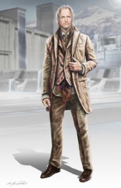 "Concept art for Haymitch Abernathy from ""The Hunger Games"" (2012) by Christian Cordella."