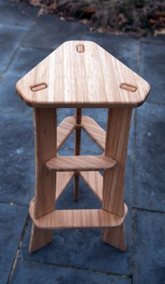 The Maholla Tri-Stool is designed to combat the typical circular stool and is fantastically comfortable. Originally designed as the perfect stool for guitar players, it quickly evolved into a tired bum magnet for all to use.