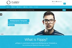 Flippy-Creative Responsive Template by webyzona on Creative Market
