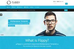 Flippy-Creative Responsive Template by webyzona on Creative Market