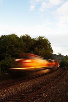 trainy motion blur