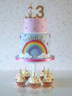 How To Make a Rainbow Birthday Cake - Novelty Birthday Cakes Baby Birthday Cakes, Rainbow Birthday Party, Unicorn Birthday, Raspberry Smoothie, Apple Smoothies, Cake Tins, Savoury Cake, Celebration Cakes, Mini Cakes