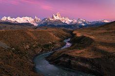 Peaks in pink - El Chalten, Patagonia.