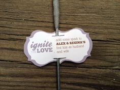 Sparkler Tags - Ignite the Love - Bracket Shape - set of 20. $15.00, via Etsy.