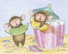 """Mudpie and Maxwell from House-Mouse Designs® featured on the The Daily Squeek® for February 3rd, 2013. Click on the image to see it on a bunch of really """"Mice"""" products."""