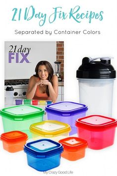 I've separated these 21 Day Fix Recipes by container color so you can quickly and easily find the recipes you need to make and stay on track!  via @bludlum