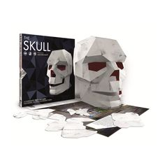 This book contains illustrated, press out parts ready to assemble in to a mask and would make a perfect birthday or Christmas gift. You will also receive one FREE digital mask with each book purchased through our shop.  The Skull is one of humanitys most powerful symbols and is often adopted as an icon of courage or rebellion. Whether youre looking for an icon of free thinking, want an edgy Halloween costume or an eye-catching accessory for your festival trip this summer, this mask is the…