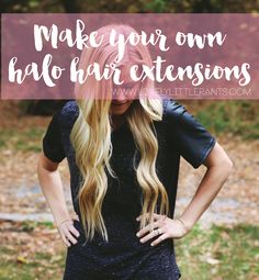 How to make your own hair extensions!