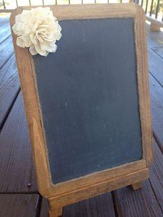 Framed Shabby Chic Rustic Chalkboard  7x10 by CountryBarnBabe, $15.00