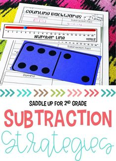 This resource is packed with effective strategies for understanding numbers in 2nd grade! Including hands-on activities and worksheets, it's the perfect way to introduce and review subtraction strategies. Click to see the activities included! #subtractionstrategies #handsonmath