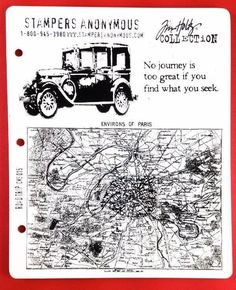 Tim Holtz Cling Rubber Stamp Road Trip Stampers Anonymous Map Car Journey