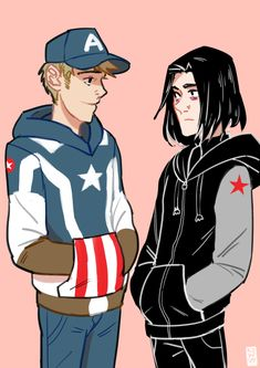Casual Captain America and Winter Soldier hoodie designs