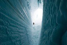 Crevasse. Antarctica