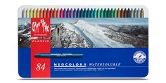 Neocolor II Watersoluble Collection by Caran d'Ache. Available in assortments of 10, 15, 30, 40 and 84 colours, or individually.
