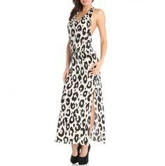 Black & white animal print dress