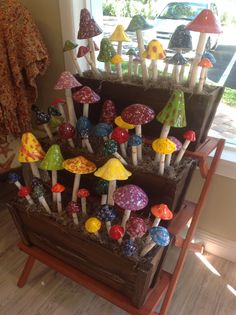 Colorful Shroomyz Brighten Gardens And Pots. 6 Sizes Available From $5.75  To $20.75
