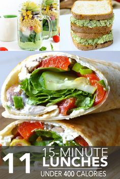 11 Fifteen-Minute Lunches Under 400 Calories