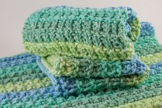 Hand Knit Dishcloth Set - Ocean Stripes http://etsy.me/2nG4Rbt #housewares #cotton #dishcloth #knitdishcloth #knitwashcloth #dishtowel #knitteddishcloth #knittedwashcloth #etsy