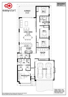 <p>The Broadway is a spacious home, with the living and dining area seamlessly integrating to the kitchen, creating a large open plan living area. Located towards the back of the home are the minor bedrooms, built around a private bathroom, while the master suite is well-positioned at the front for added privacy. Get away from the hustle and bustle of the main living area with the luxurious home theatre situated at the front of the home. With space-saving features such as a walk-in line...