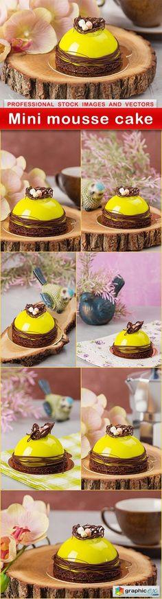 Mini mousse cake  8 UHQ JPEG  stock images