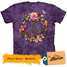 Tricouri The Mountain – Tricou Peace Roses - Butterfly Peace Rose, T Shirt Flowers, Usb Stick, People In Need, Tshirts Online, The Ordinary, Tshirt Colors, Graphic Tees, My Style