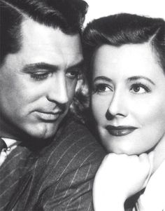 "Irene Dunne and Cary Grant. ""Her timing was marvelous. She was so good that she made comedy look easy. If she'd made it look as difficult as it really is, she would have won her Oscar."" ~ Cary Grant on Irene Dunne"