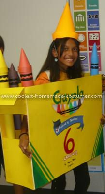 Coolest Crayola Crayon Box Costume  sc 1 st  Pinterest & Coolest Crayola Crayon Box Costume | Crayon box Crayons and Costumes