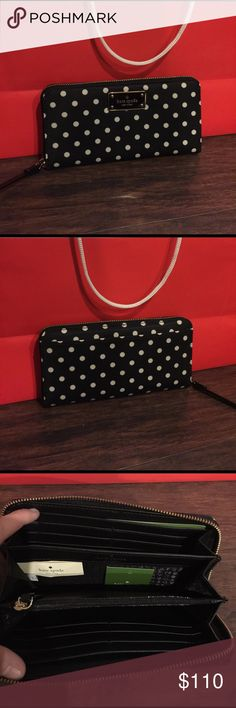 🎉Black Friday Sale🎉 New Kate Spade Wallet New with tags 100% authentic Kate Spade polka for Wallet kate spade Bags Wallets