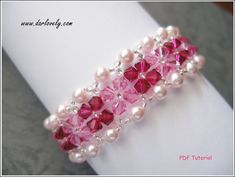 This bracelet tutorial includes details, easy step by step instructions with colour photos/pictures and all of materials list. The bracelet is made using Swarovski bicone, pearl and seed beads, which are easily available. Time required approximately 2 hr Number of pages 12 Number of Steps