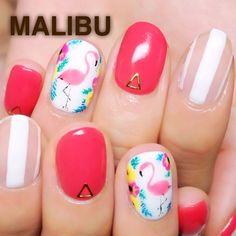 ↠↠ ғoreverвlonde☽ ✧ caмѕgυrrlхх ↞↞ Get Nails, Dope Nails, Hair And Nails, Asian Nails, Exotic Nails, Hawaian Party, Nautical Nails, Super Cute Nails, Nail Candy