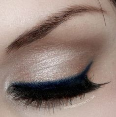 Pop of color with blue liner, simple but beautiful :)