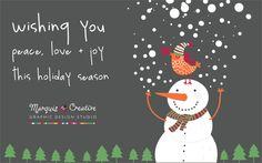 wishing you peace love + joy