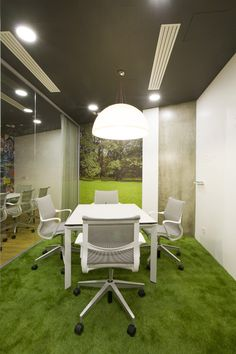 Badoo Moscow. The artificial turf floor is a great idea.