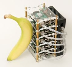 Raspberry Pi Dramble cluster - with a banana for scale
