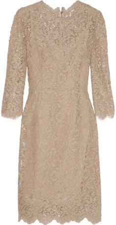 Cottonblend Lace Dress - Lyst