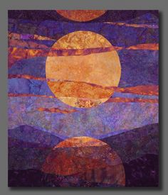 Moon Rising Batik assemblage by Jane Jennings Arts on Douglas