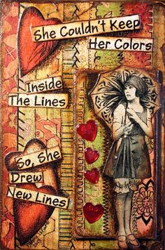 """She couldn't keep her colors inside the lines so, she drew new lines."" For Mighty Girl books for children and teens that celebrate the value of expressing your uniqueness, visit our ""Individuality"" section at http://www.amightygirl.com/books/personal-development/values?cat=338"