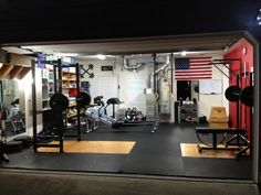 Some dude named Tim has a very well designed and set up garage gym with two rowers, a rack, bench, great flooring, and it's very organized. Very impressed