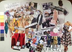 painel sobre filme O diabo veste Prada e cartela de cor.