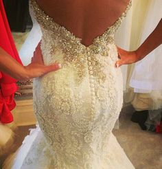 #Mermaid #Wedding #Dress ♡ For how to organise an entire wedding https://itunes.apple.com/us/app/the-gold-wedding-planner/id498112599?ls=1=8 ♥ THE GOLD WEDDING PLANNER iPhone App ♥ http://pinterest.com/groomsandbrides/boards/ for an abundance of wedding ideas ♡