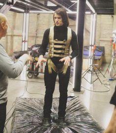 Danila Kozlovsky training for Vampire Academy filming (looks comfy...not!)