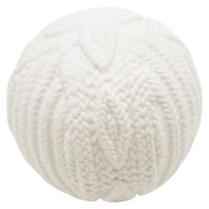 White Ceramic Knit Orb, 3""