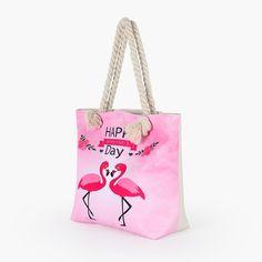 Hot Flamingo Printed Bag – Baqala Store Best Beach Bag, Summer Beach, Summer Fun, Womens Beach Bag, Oversized Beach Bags, Flamingo Print, Beach Tops, Beach Tote Bags, Printed Bags