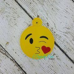 kiss emoji ornament