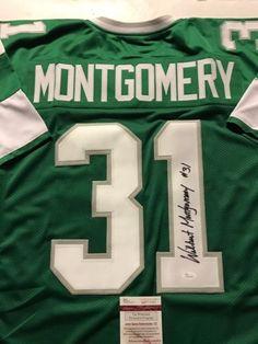 4af0d938565 Autographed/Signed WILBERT MONTGOMERY Philadelphia Eagles Green Jersey JSA  COA Eagles Fans, Go Eagles